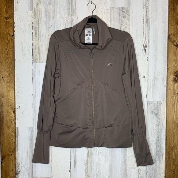 adidas Jackets & Blazers - Adidas Clima 365 zipper jacket size large brown